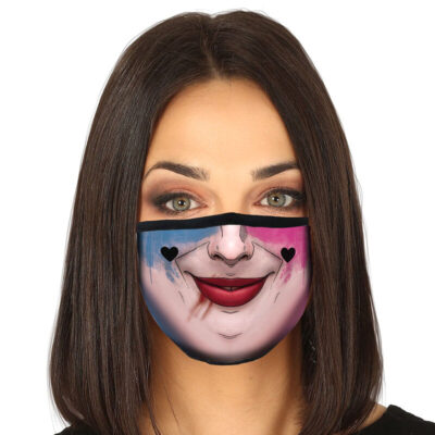 Harley Quinn Makeup Reusable Face Mask