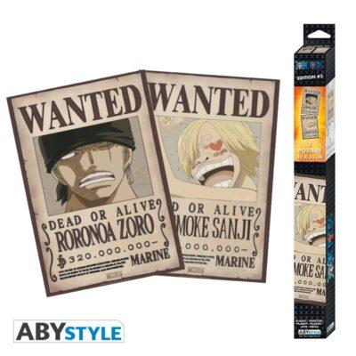 Wanted Zoro and Sanji Chibi Posters