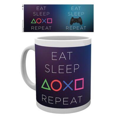 Playstation Mug Eat Sleep Repeat